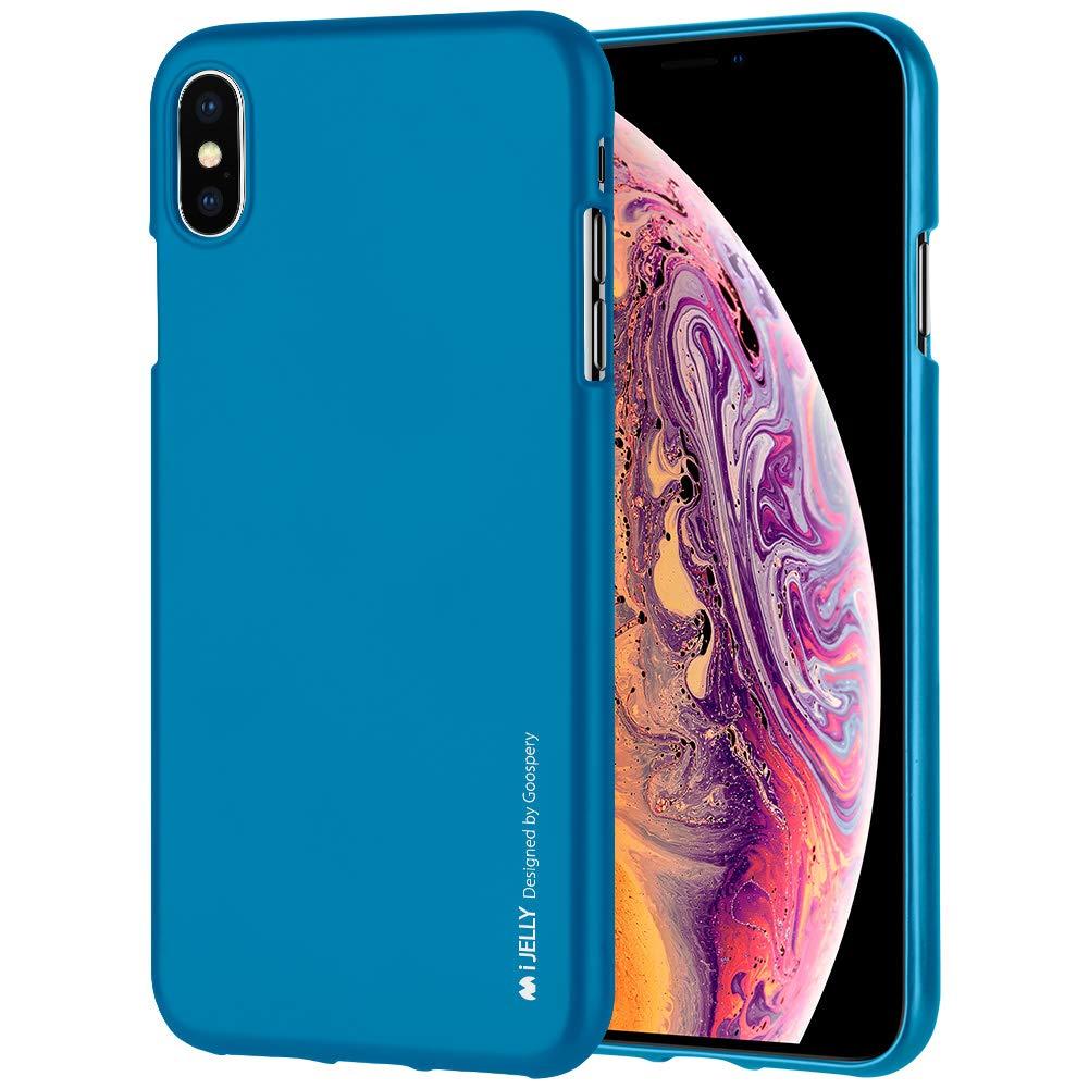 Pouzdro Goospery i-Jelly Metal iPhone XS MAX - Modré