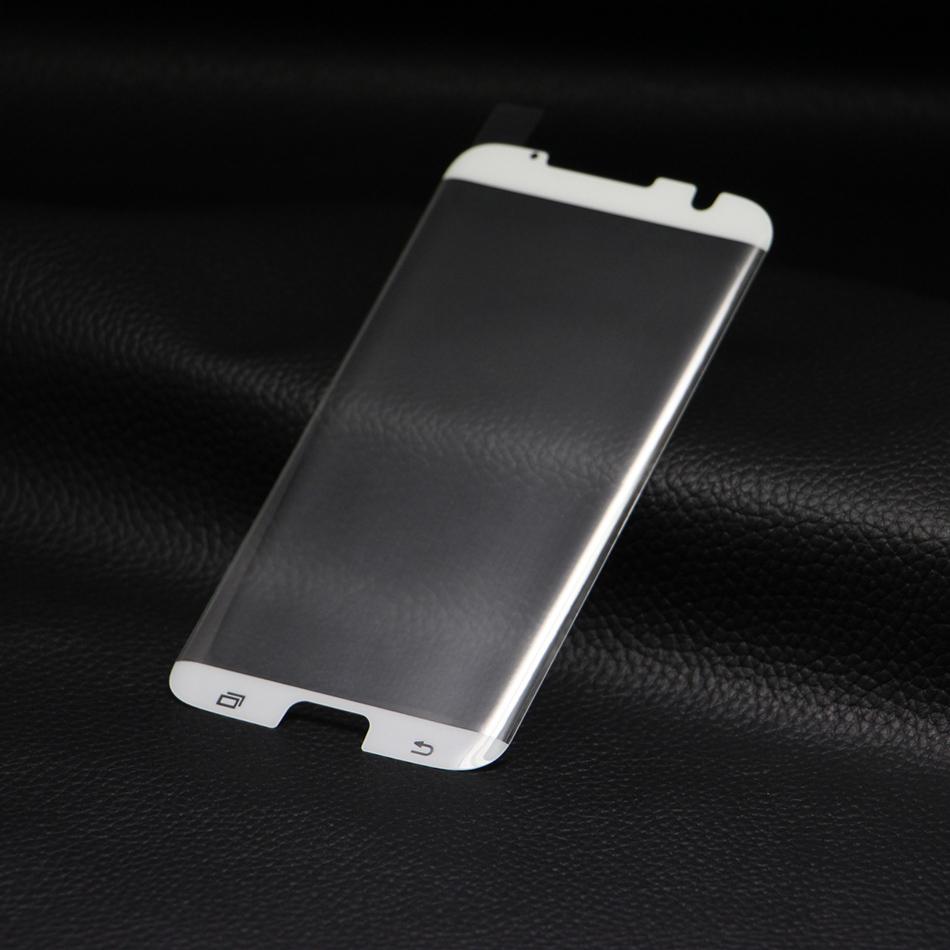 3D Ochranné sklo CASE FRIENDLY na celý displej pro Galaxy S7 Edge - Bílé