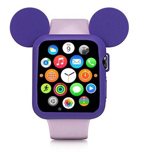 Obal Cartoon Mickey na Apple Watch 42mm Series 1, 2, 3 - Fialový