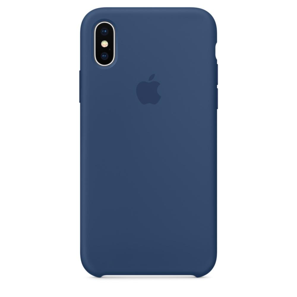 Pouzdro Apple Silicone Case iPhone X - kobaltově modré