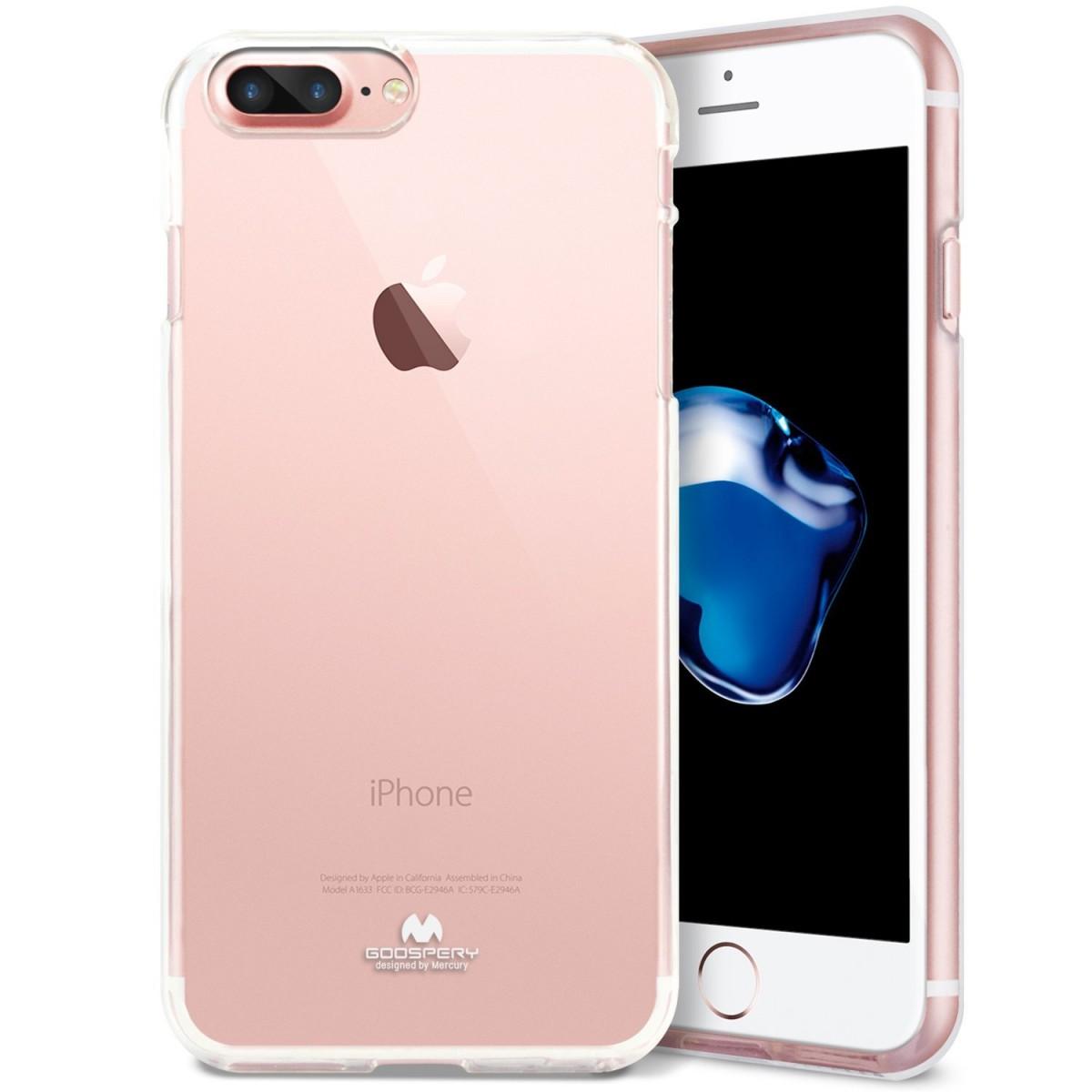 Silikonový obal / kryt Goospery Mercury pro Apple iPhone 8 Plus - Čirý / Transparentní