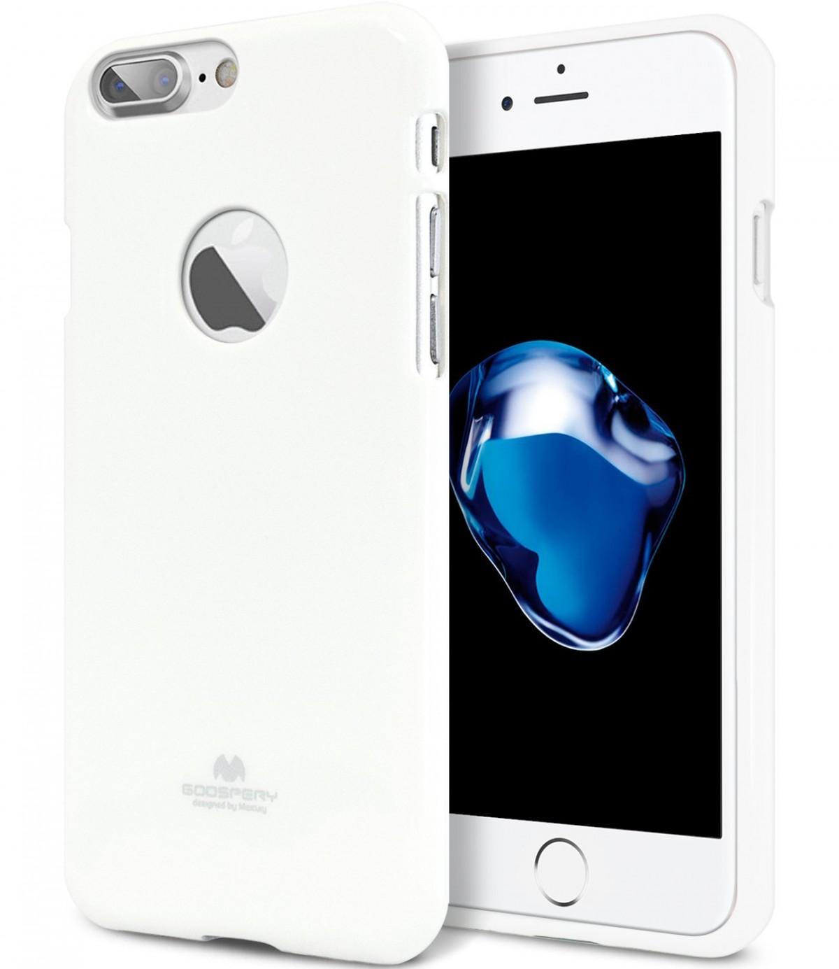 Silikonový obal / kryt Goospery Mercury pro Apple iPhone 8 Plus - Bílý / Jet White