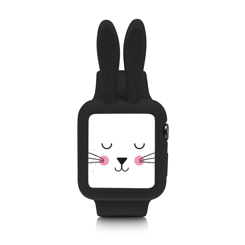 Obal Cartoon Rabbit na Apple Watch 42mm Series 1, 2, 3 - Černý