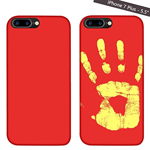 Magické kryty THERMAL měnící barvu pro Apple iPhone - 7 Plus / 8 Plus, červený