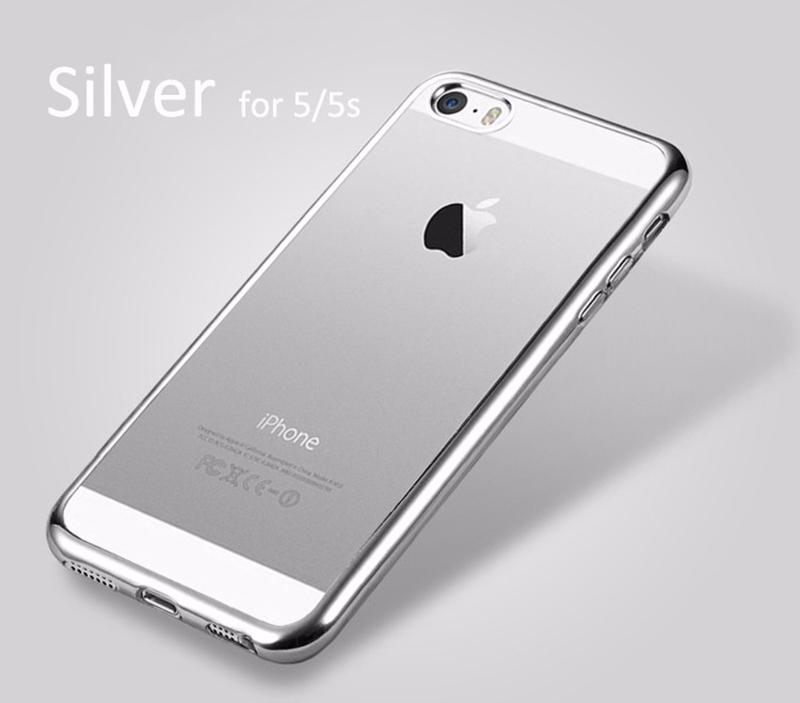 Elegantní obal / kryt RING pro iPhone SE / 5s / 5 - Stříbrný (silver)