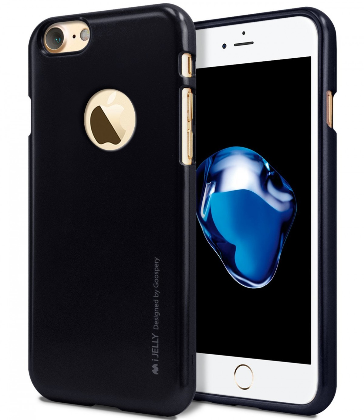 Pouzdro Goospery Mercury Jelly Case Apple iPhone 8/7 Jet černé