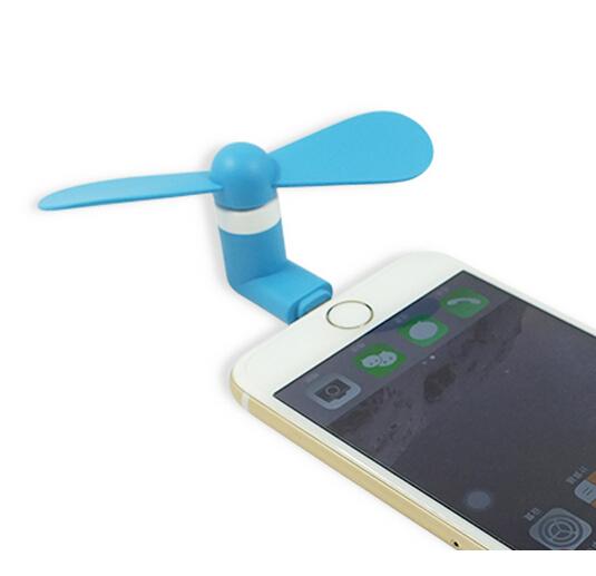 Větráček Summer FAN pro Apple iPhone / iPad (6 barev na výběr) - Modrý