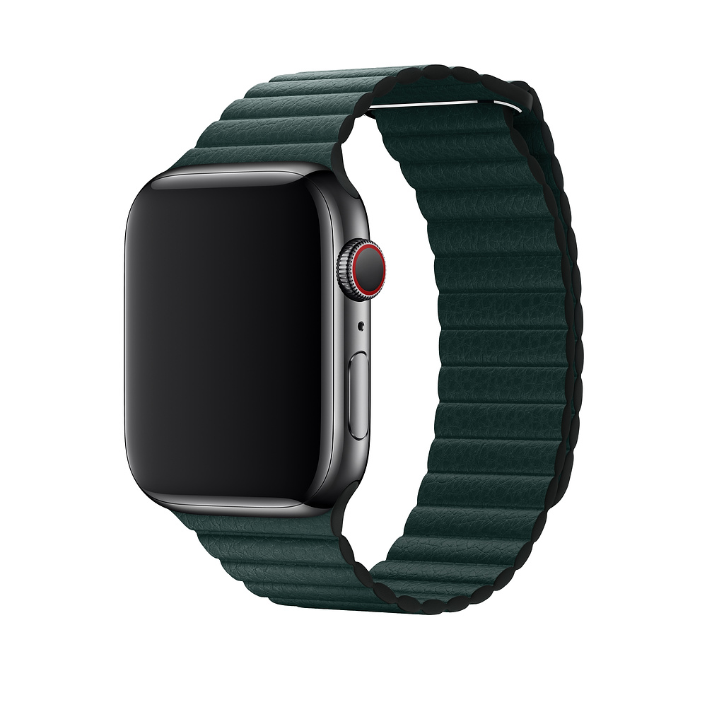 Řemínek Leather Loop na Apple Watch Series 3/2/1 (42mm) - Piniově zelený