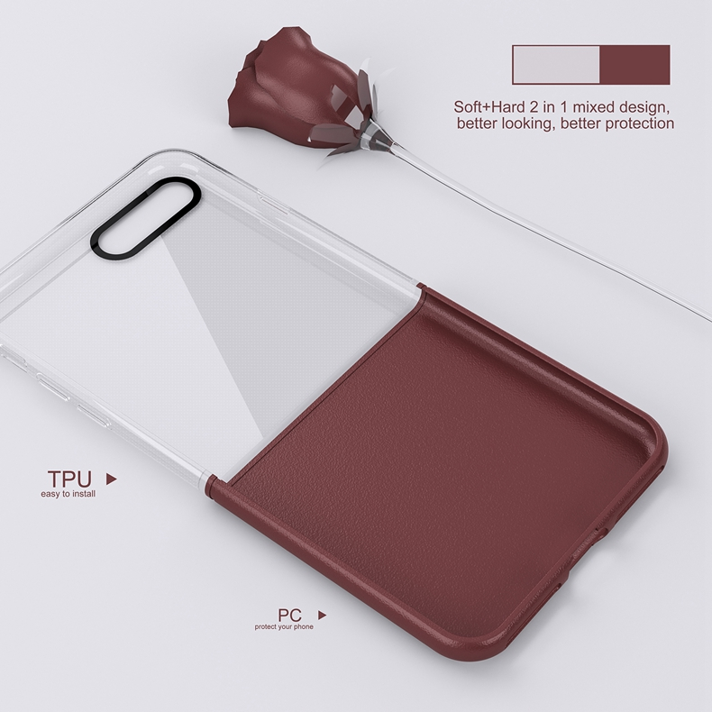 Elegantní kryty DOUBLE pro mobily Apple iPhone - pro iPhone 7 Plus (vínově červený)