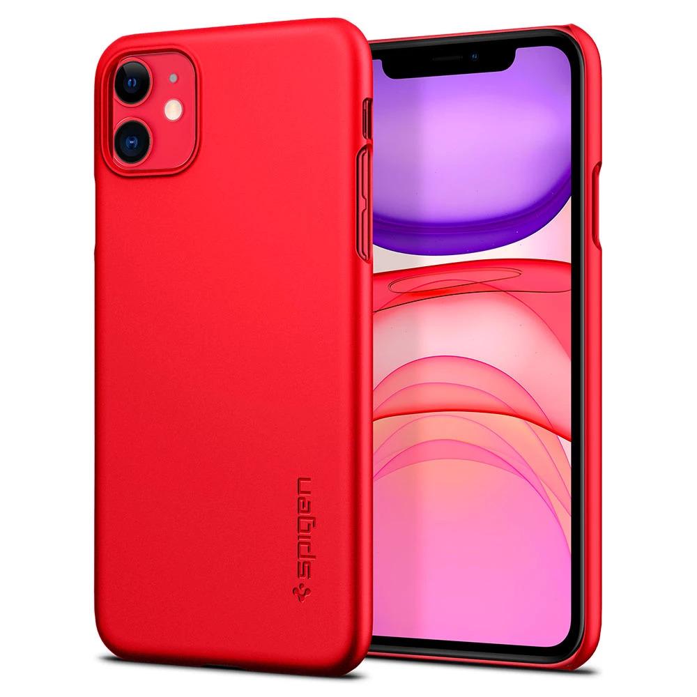 Pouzdro Spigen Thin Fit iPhone 11 - Červený