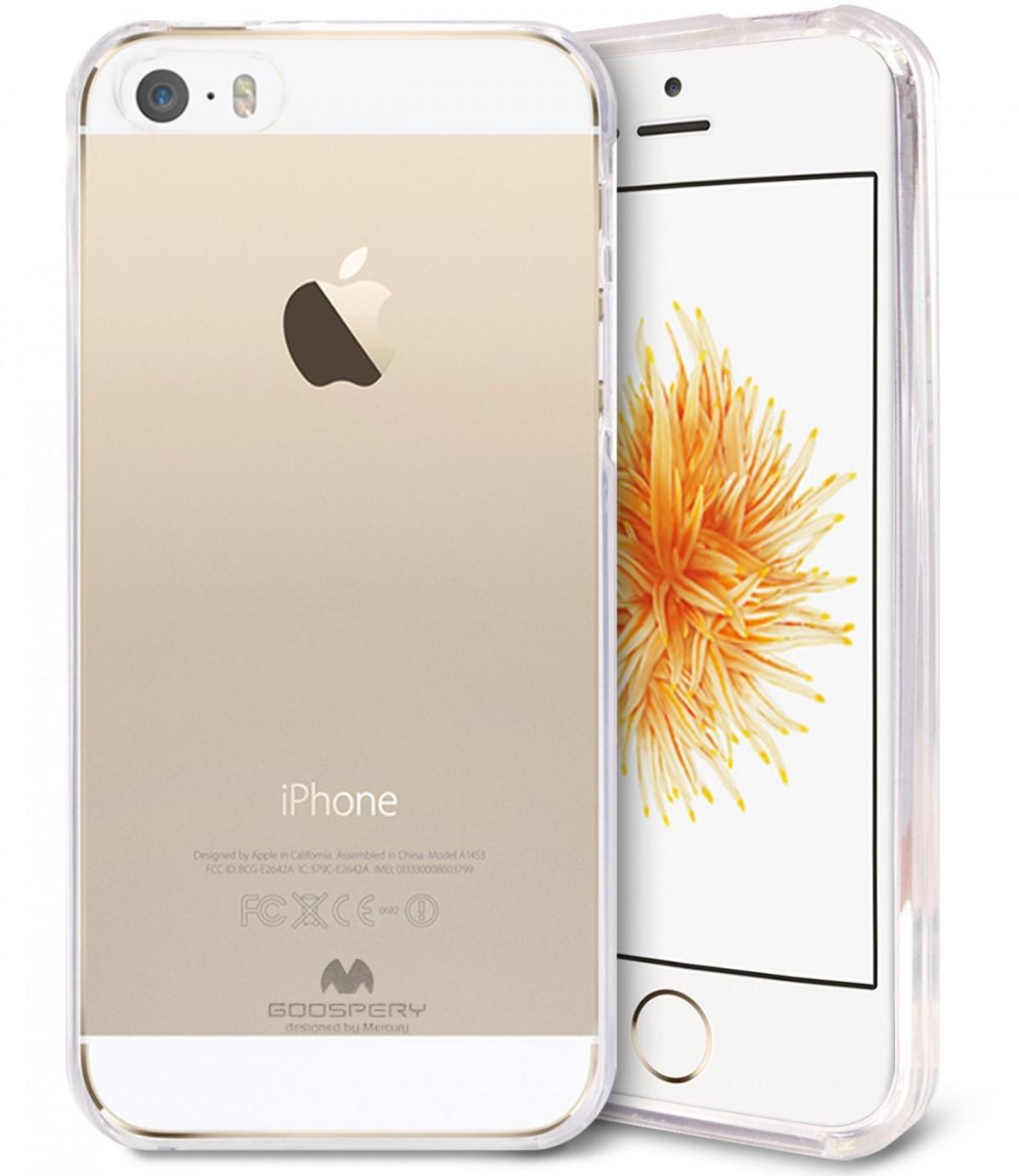Silikonové obaly / kryty Goospery Mercury pro Apple iPhone SE / 5s / 5c / 5 - Čirý / Průhledný