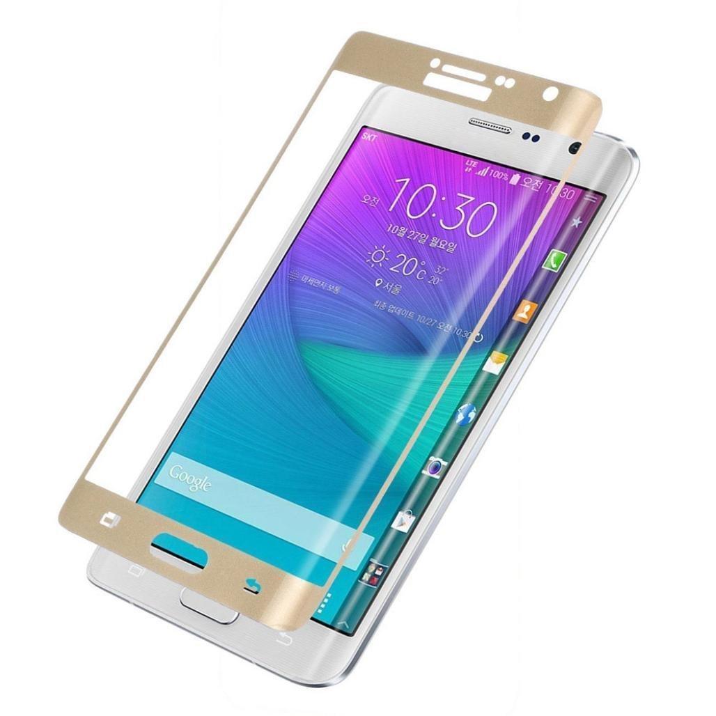 3D Tvrzené sklo 9H na celý displej pro Samsung Galaxy Note Edge - Zlaté (gold)