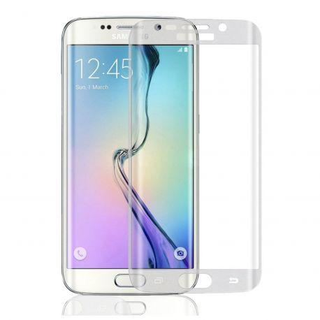 3D zakřivené tvrzené sklo 9H pro Samsung Galaxy S7 Edge - Poloprůhledné šedé (frosted)