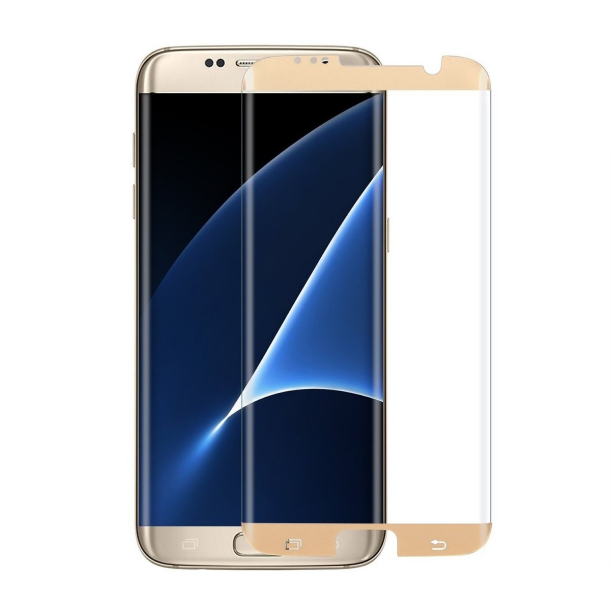 Ochranné 3D sklo Magic Glass Full Glue Galaxy S7 Edge - Zlaté (Case Friendly)