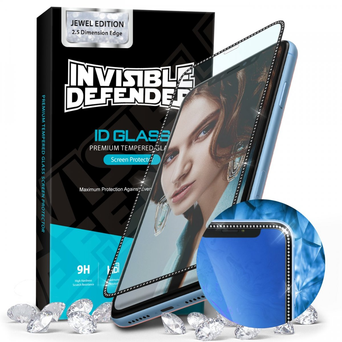 Tvrzené sklo Ringke Invisible Defender ID GLASS Jewel Edition iPhone 11 Pro/XS/X