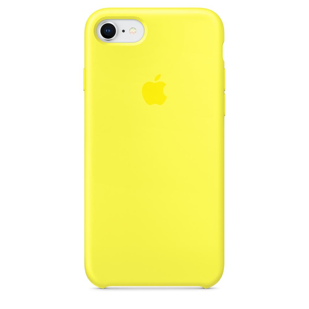 Originální silikonový kryt Apple na iPhone 8 / 7 - Zářivě žlutý