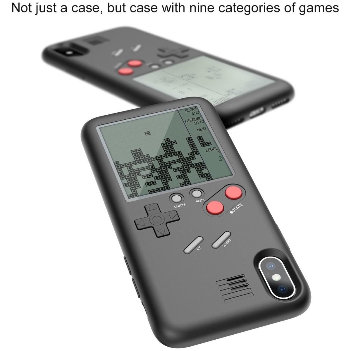 Pouzdro Wanle Gamers Console Apple iPhone X Černé s konzolí
