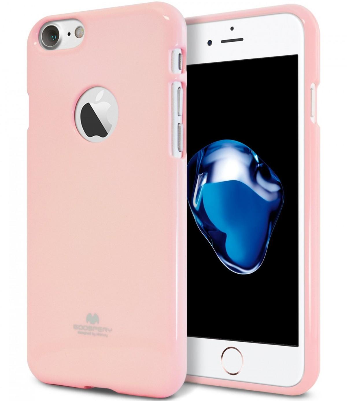 Pouzdro Mercury Jelly Case Apple iPhone 7 / 8 růžové