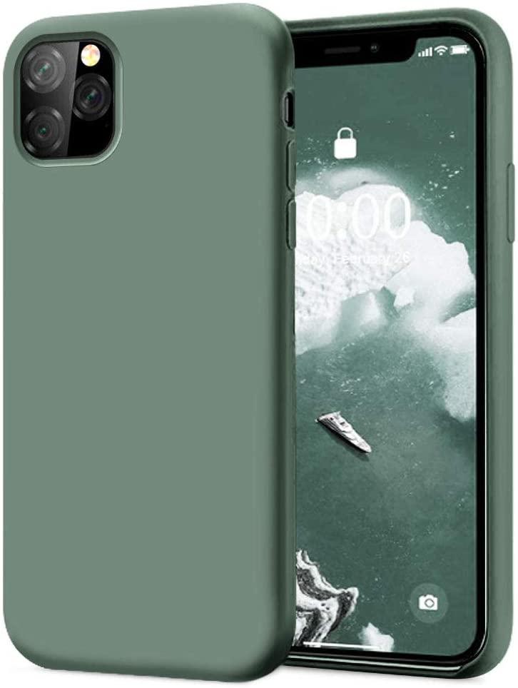Pouzdro iMore Silicone Case iPhone 11 Pro - Smrkově zelený
