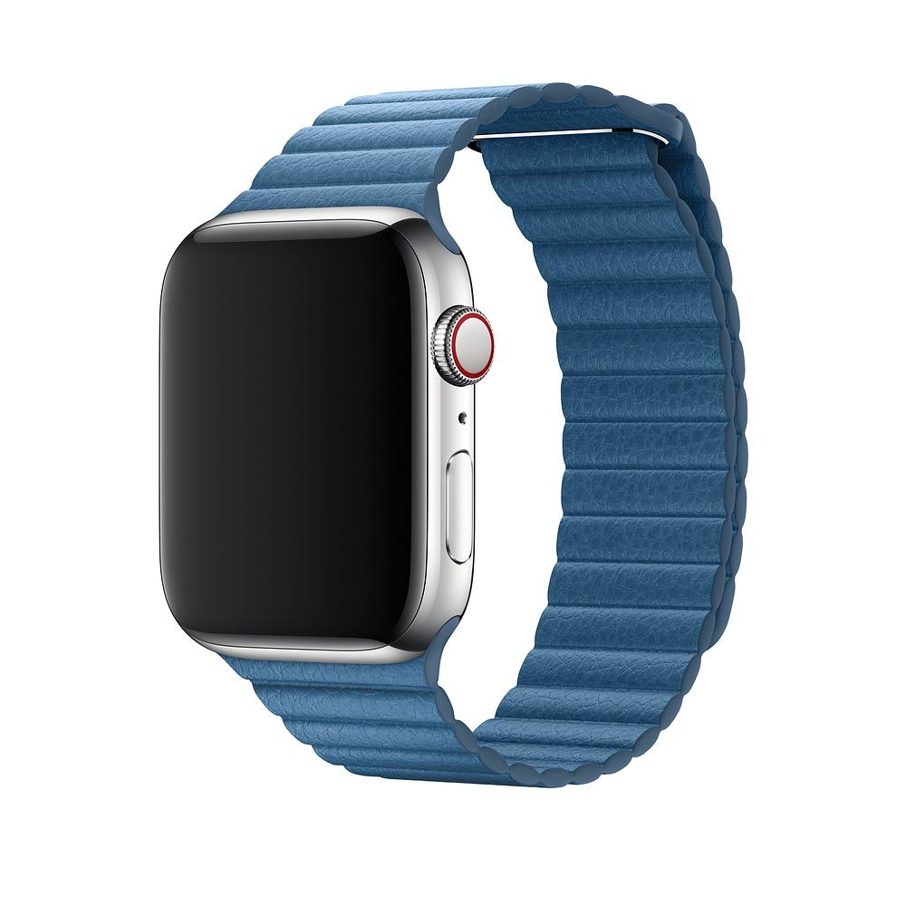Řemínek Leather Loop na Apple Watch Series 3/2/1 (42mm) - Modrý