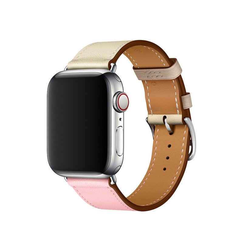 Řemínek Single Tour pro Apple Watch Series 3/2/1 (38mm) - Béžový/Růžový