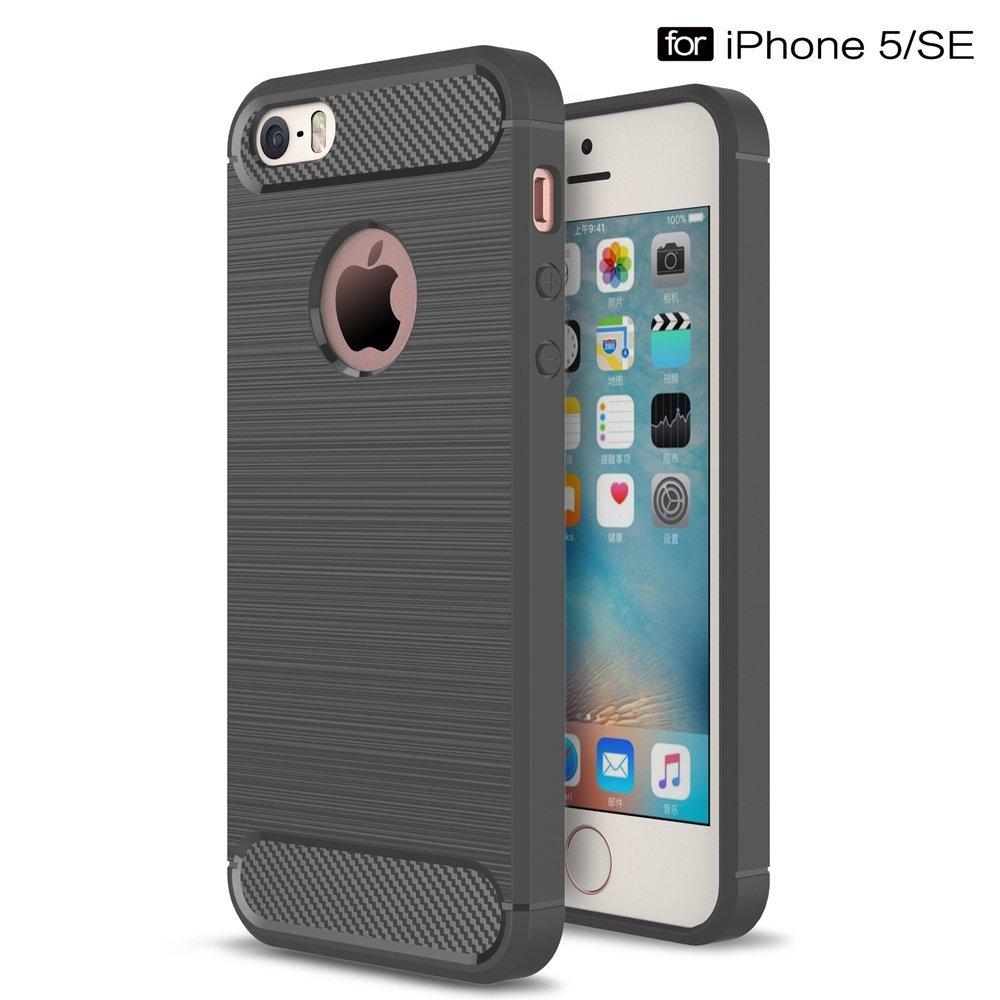 Odolný kryt Carbon Armor pro iPhone SE / 5s / 5 - Šedý