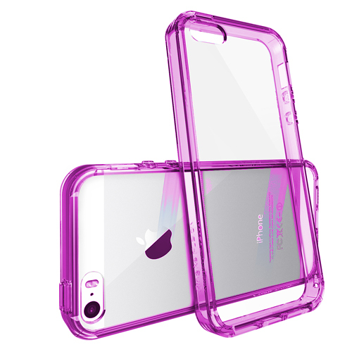 Růžový čirý obal / kryt na iPhone SE / 5s / 5