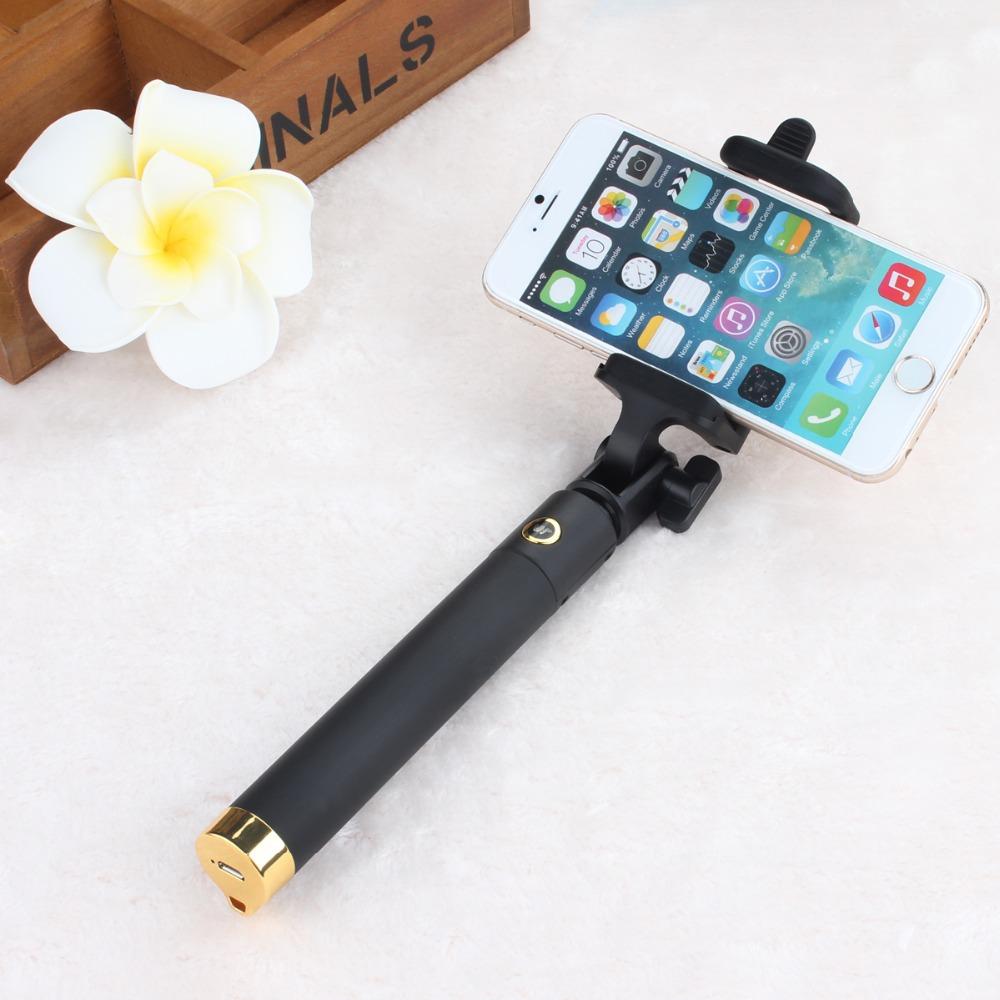 Teleskopická selfie tyč Locust s Bluetooth 80cm - Zlatá