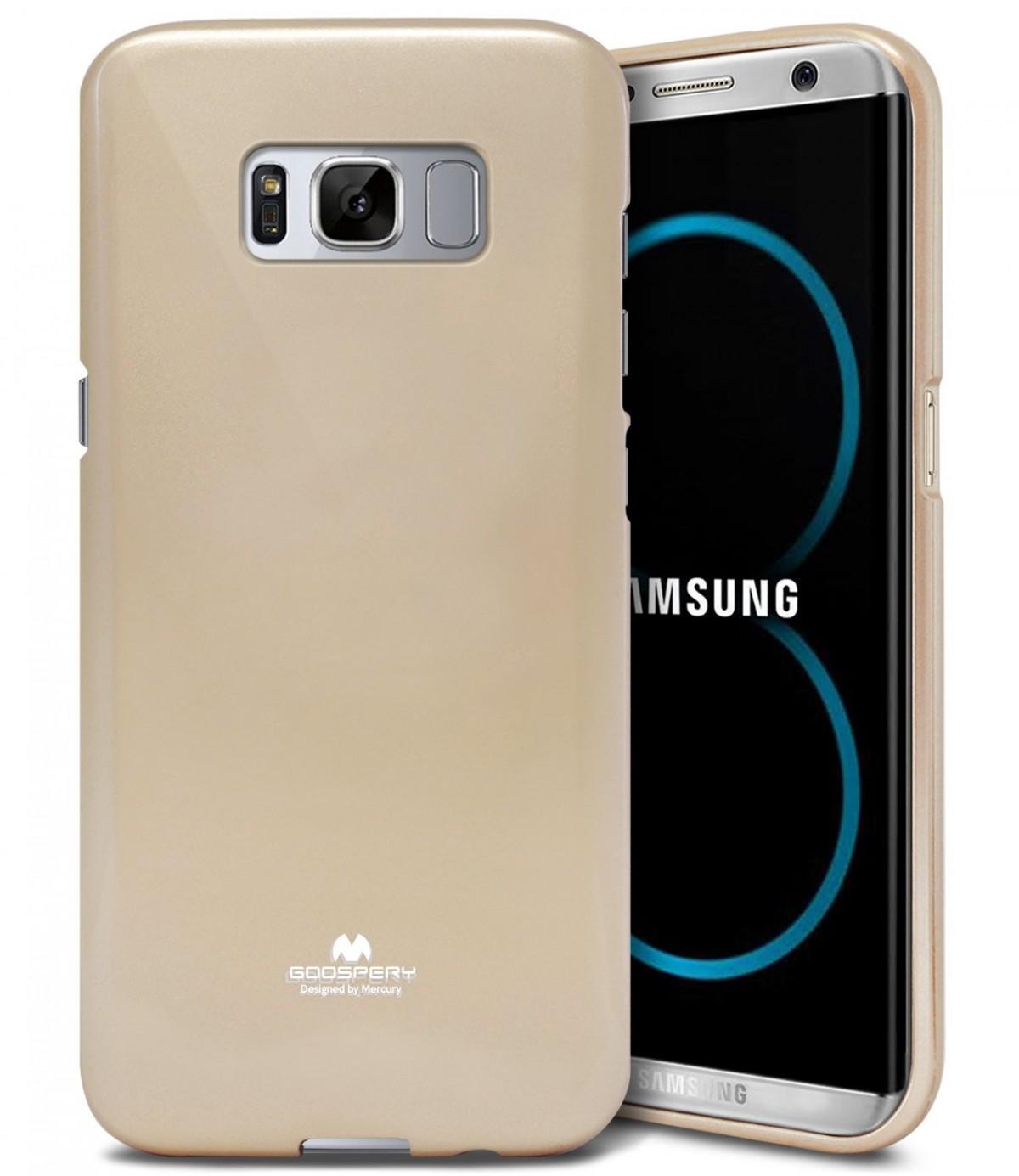 Silikonové barevné obaly / kryty Goospery Mercury pro Samsung Galaxy S8 - Jelly Case - Zlatý
