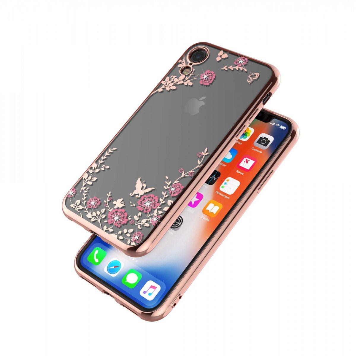 Pouzdro Forcell Diamond Case iPhone XR - Růžově zlatá