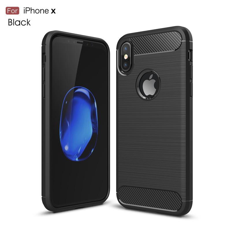 Stylový obal / kryt Carbon Armor pro iPhone Xs/X - Černý