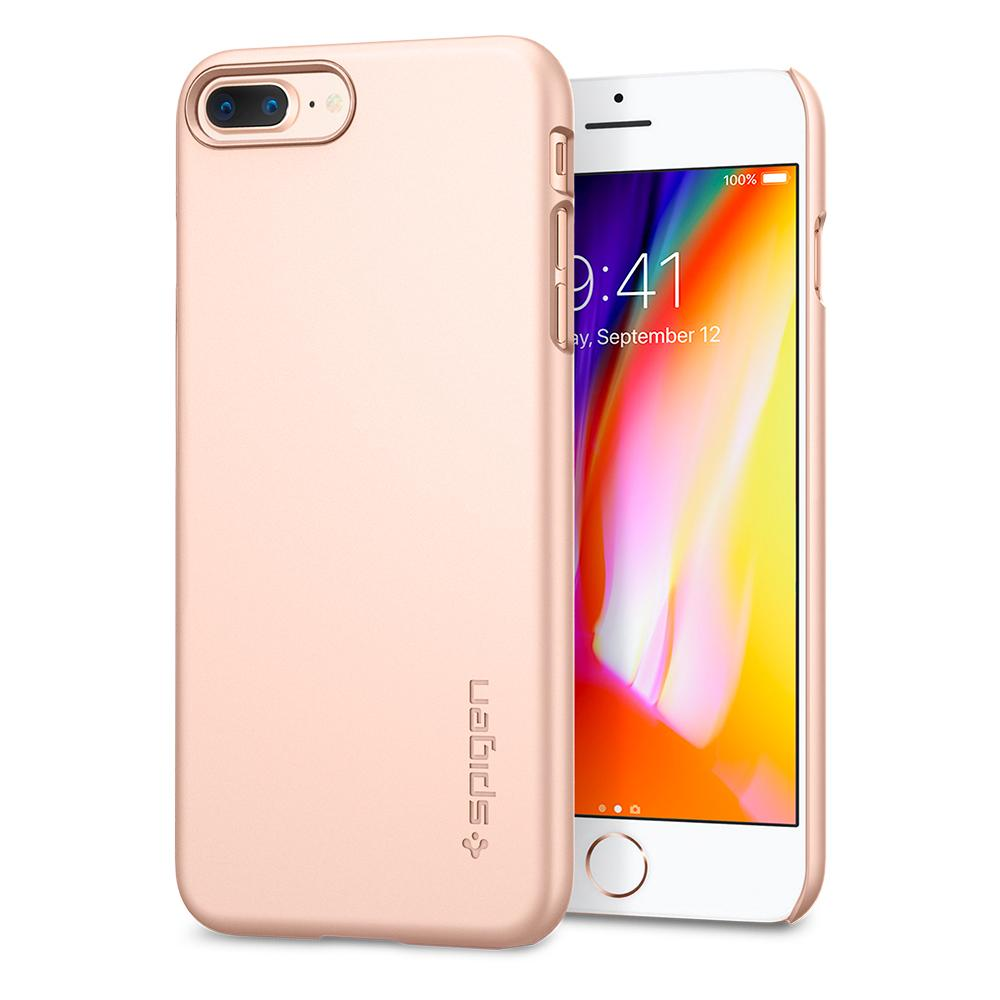 Ochranný obal SPIGEN Thin Fit pro Apple iPhone 8 Plus / 7 Plus - Blush Gold