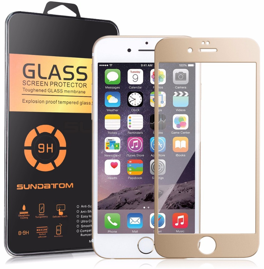 3D Tvrzené sklo Titanium pro iPhone 6s/6 zlaté