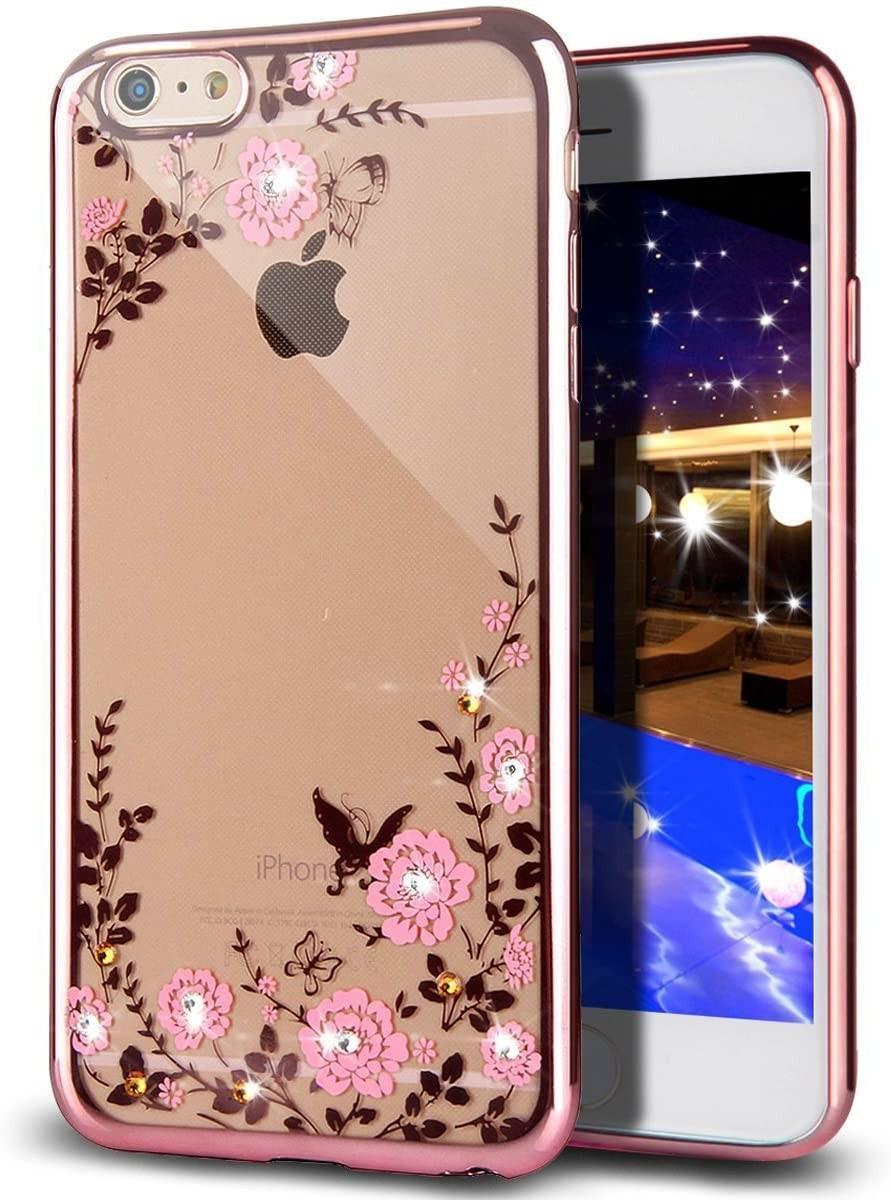 Pouzdro Forcell Diamond Case iPhone 6s/6 - Růžově zlatá