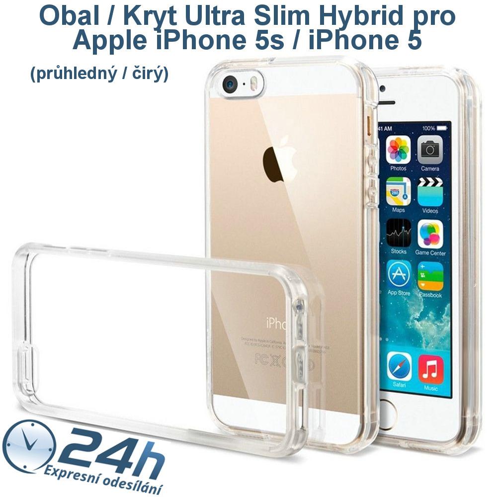 Průhledný čirý obal / kryt na iPhone 5s / 5