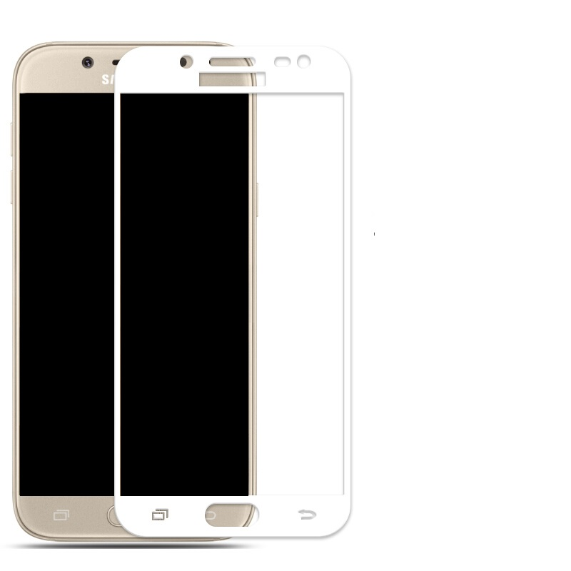 3D ochranné sklo Carbon Fiber na displej Samsung Galaxy J5 (2017) - Bílé