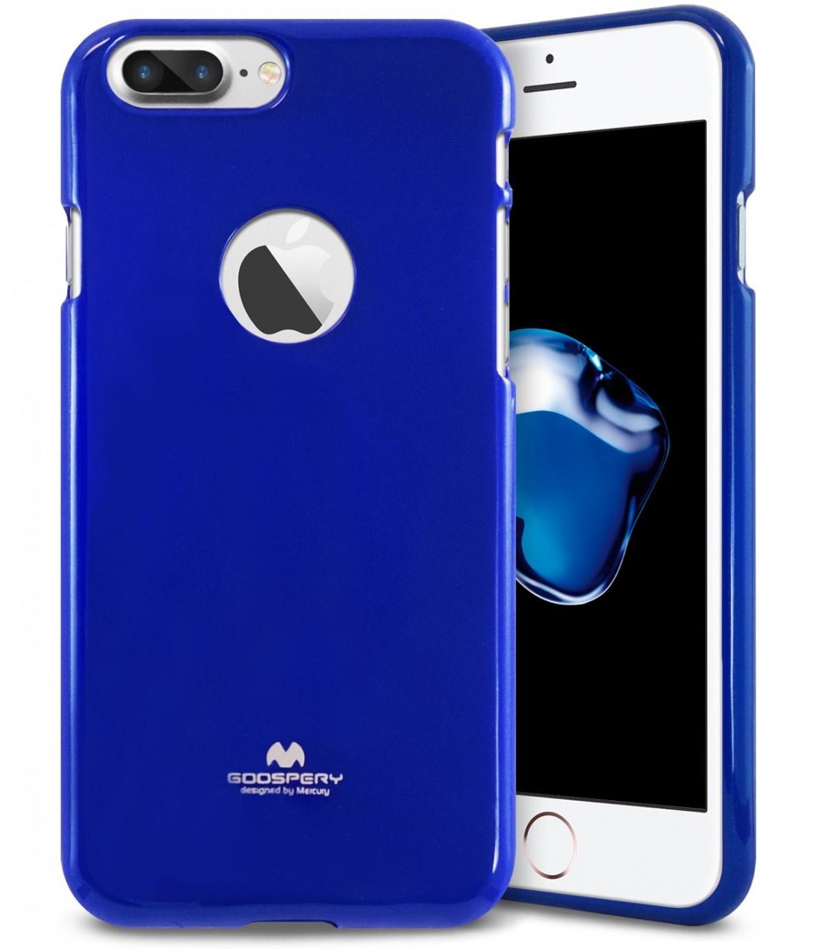 Silikonový obal / kryt Goospery Mercury pro Apple iPhone 8 Plus - Modrý / Blue