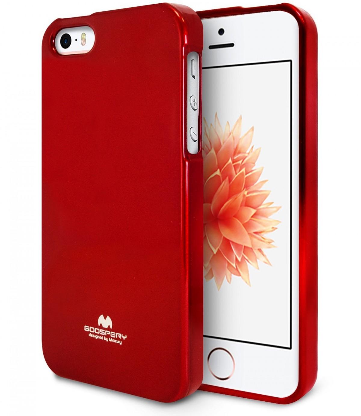 Silikonové obaly / kryty Goospery Mercury pro Apple iPhone SE / 5s / 5c / 5 - Vínově červený