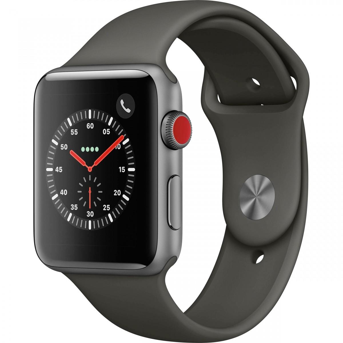Řemínek SmoothBand pro Apple Watch 42mm Series 1 / 2 / 3 - Vesmírně šedý