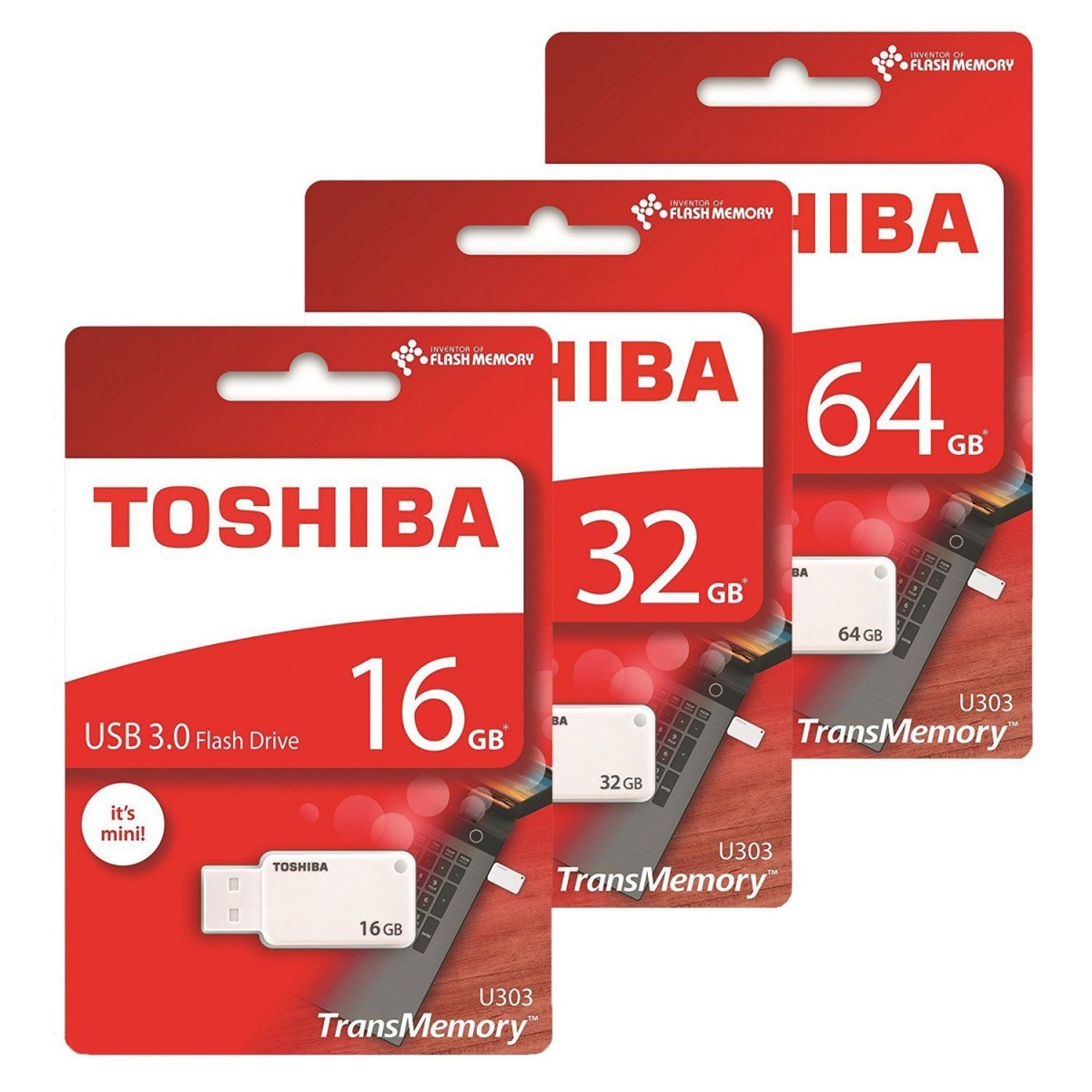 TOSHIBA U303 USB 3.0 Flash Disk (64GB/32GB/16GB)