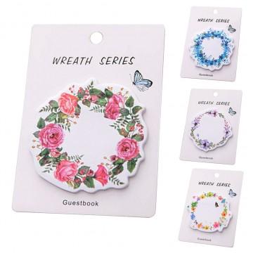 Samolepící bloček Wreath Series