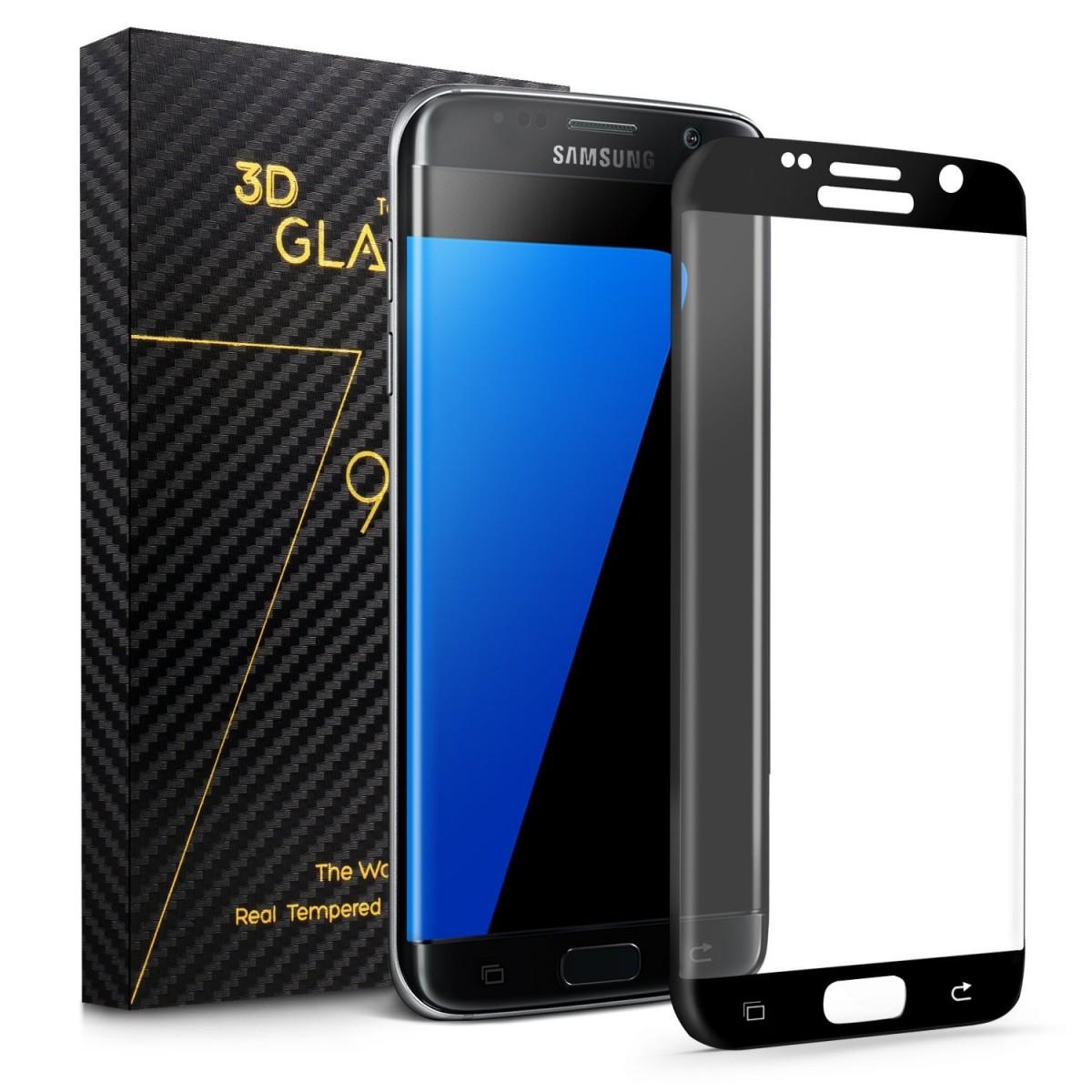 CellFish tvrzené sklo pro Samsung G935 Galaxy S7 Edge, černá CELLGLASSSAMS7BL