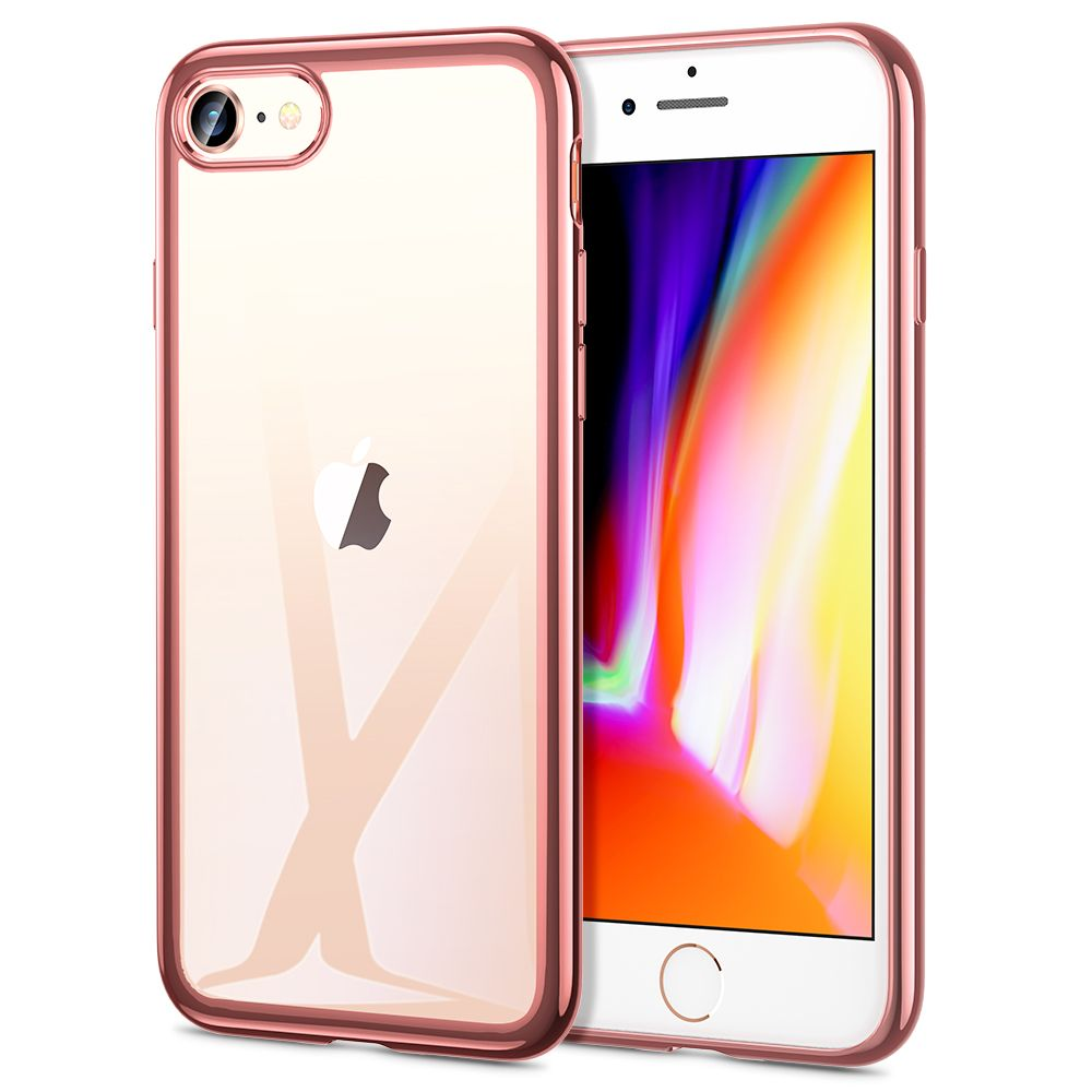 Pouzdro ESR Essential Crown Apple iPhone 7/8/SE 2020 - Růžově zlatý