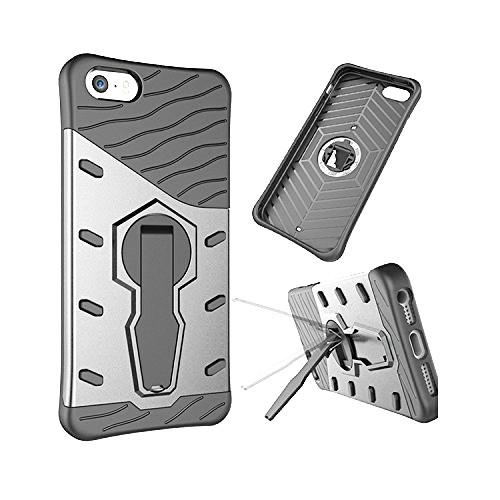 Velmi odolný kryt SNIPER se stojánkem pro Apple iPhone SE / 5s / 5 - Stříbrný