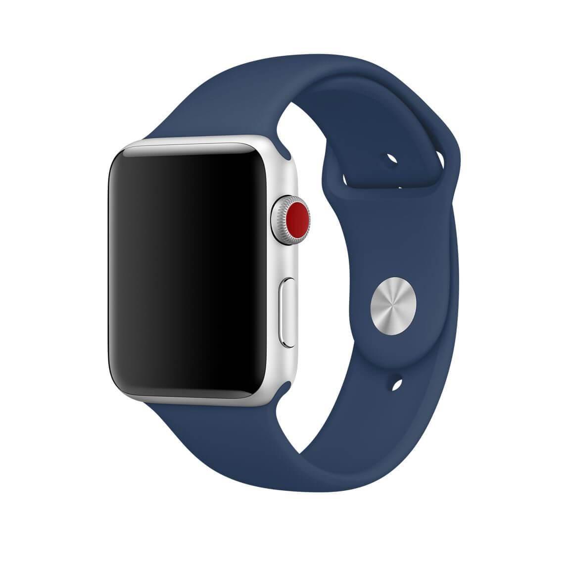 Řemínek SmoothBand pro Apple Watch Series 3/2/1 42mm - Kobaltově modrý