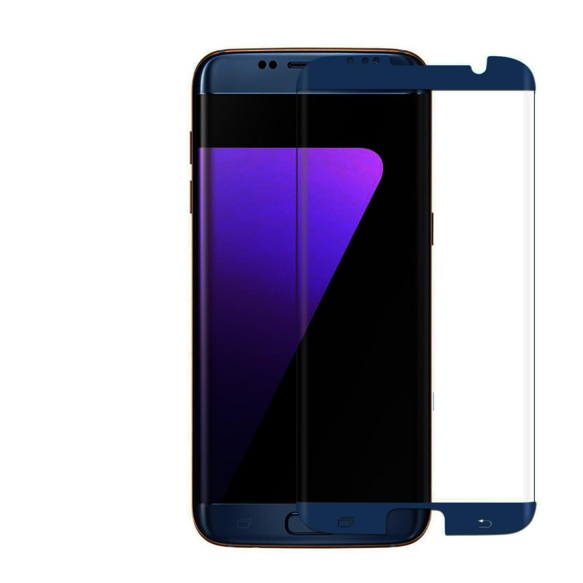 3D Ochranné sklo CASE FRIENDLY na celý displej pro Galaxy S7 Edge - Tmavě modré