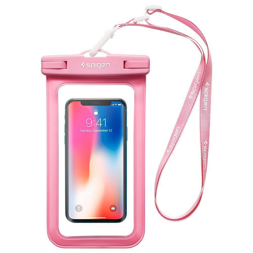 Pouzdro Spigen Velo A600 Waterproof Phone - Růžové