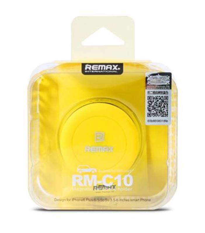 Magnetický držák do auta REMAX RM-C10 (univerzální, do ventilace) - Žlutý