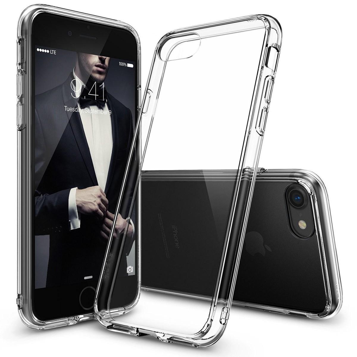 Průhledný čirý obal / kryt na iPhone 7