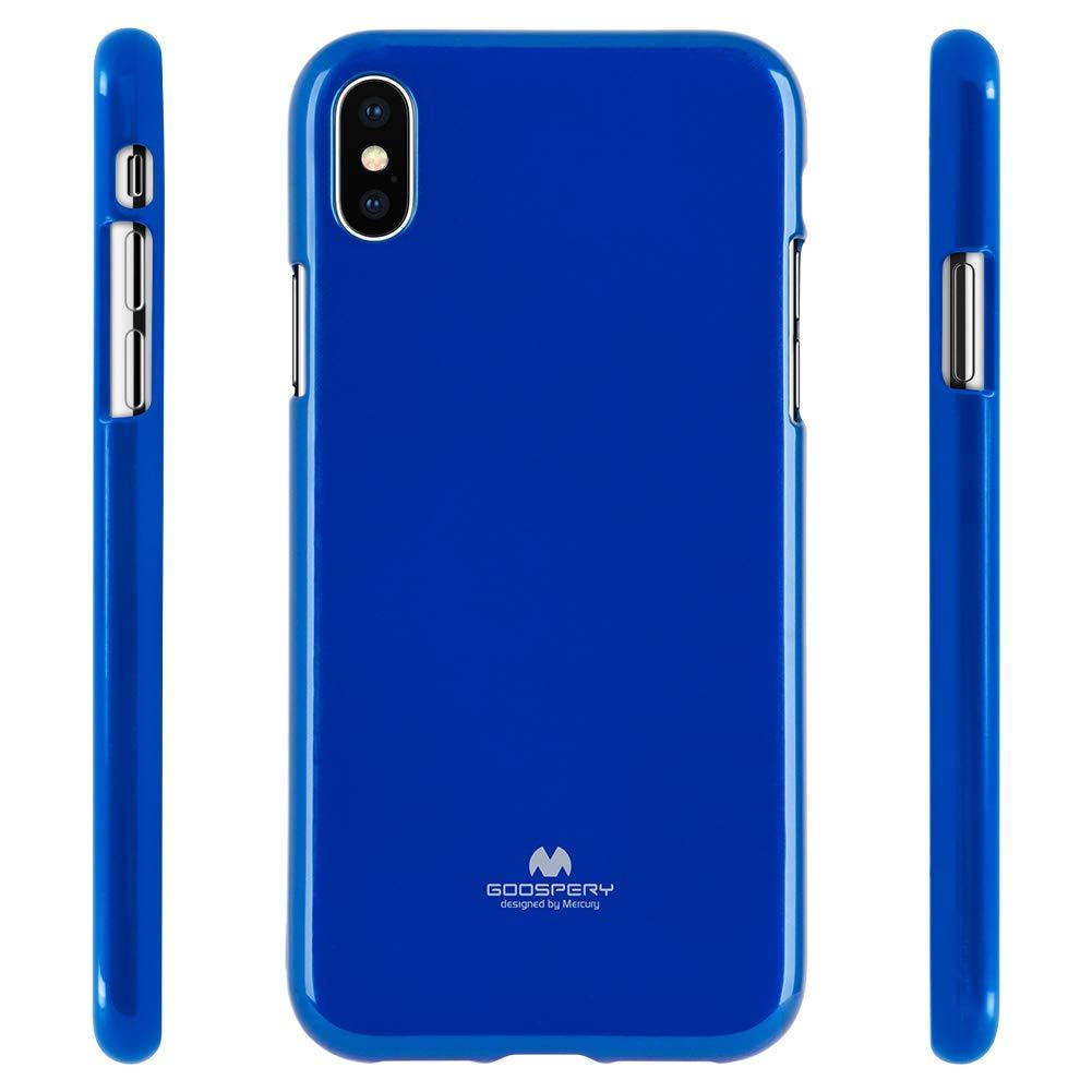Pouzdro Mercury Pearl Jelly Case iPhone XS MAX - Modrý